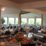 Our banquet room can seat 150 guests for your wedding, party, or other event!